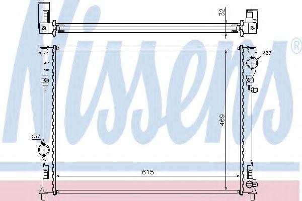 Радіатор охолоджування  арт. 61014A