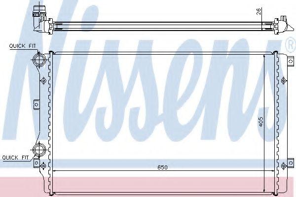 Радіатор охолодження NISSENS 65280A