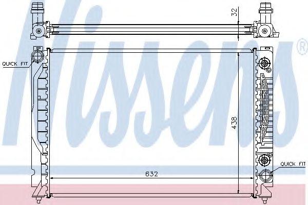 Радіатор охолодження NISSENS 60316