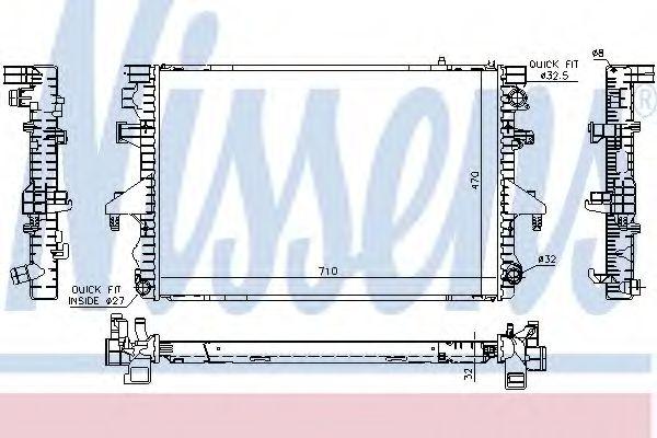 Радіатор охолодження NISSENS 65283A
