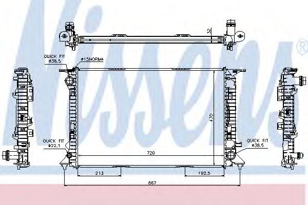 Радіатор охолодження NISSENS 60317