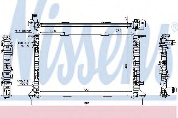 Радіатор охолодження NISSENS 60321