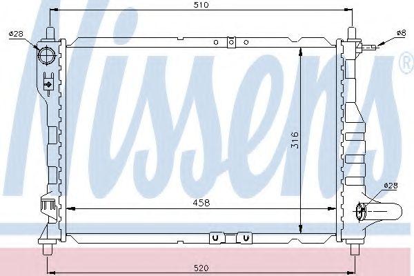 Радиатор охлаждения CHEVROLET Matiz (пр-во Nissens)                                                   арт. 61630