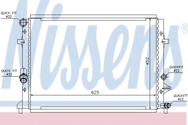 Радіатор охолодження NISSENS 65295