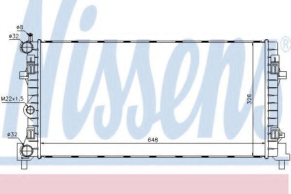 Радіатор охолодження NISSENS 640012