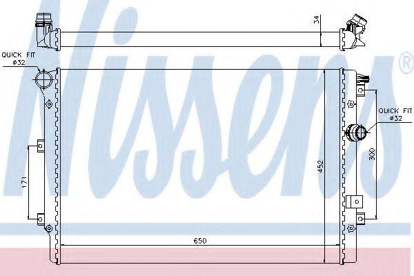 Радіатор охолодження NISSENS 65015
