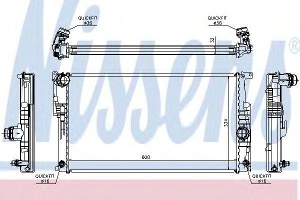 Радиатор охлаждения BMW 1/2/3/4 (пр-во Nissens)                                                       арт. 60817