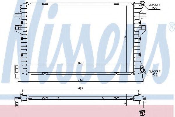 Радіатор охолодження NISSENS 65306