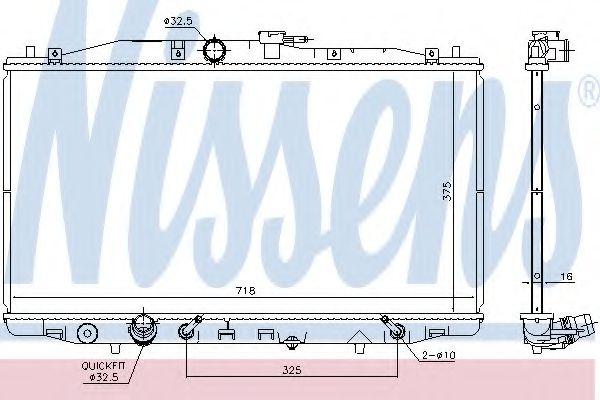 Радиатор охлаждение HONDA ACCORD VII (03-) 2.0 i 16V (пр-во  Nissens)                                NISSENS 68152