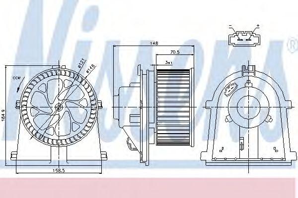 Вентилятор пічки NISSENS 87022