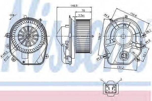 Вентилятор салона AUDI, SKODA, VW (пр-во Nissens)                                                    в интернет магазине www.partlider.com