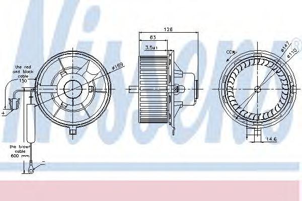 Вентилятор салону NISSENS 87031