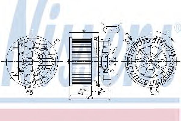 Вентилятор салону NISSENS 87043
