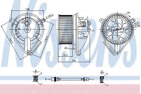 Вентилятор салону NISSENS 87052