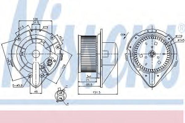 Вентилятор салона AUDI, VW (пр-во Nissens)                                                           в интернет магазине www.partlider.com