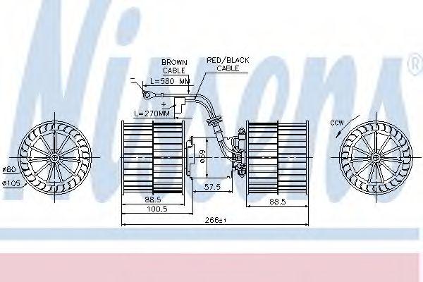 Вентилятор салону NISSENS 87071
