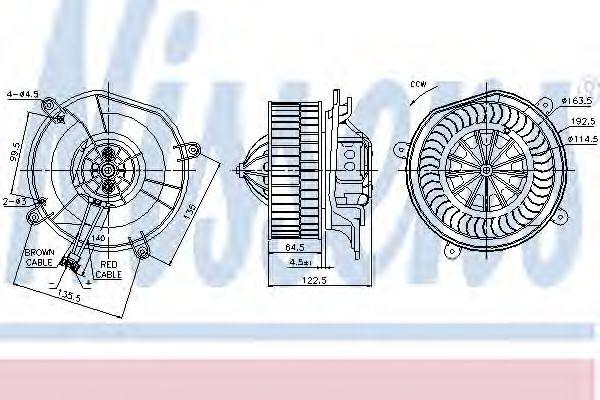 Вентилятор отопителя MERCEDES  E-CLASS W 211 (02-) (пр-во Nissens)                                   NISSENS 87103