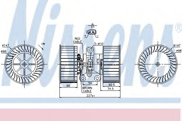 Вентилятор пічки електро NISSENS 87114