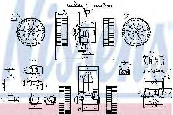 Вентилятор отопителя BMW  5 E60-E61 (03-) (пр-во Nissens)                                            NISSENS 87117