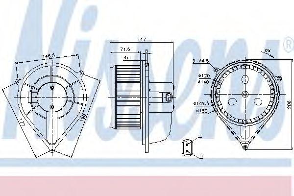 Вентилятор отопителя FIAT  DUCATO (94-)(пр-во Nissens)                                               NISSENS 87128