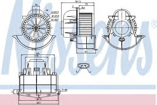 Вентилятор салону NISSENS 87139
