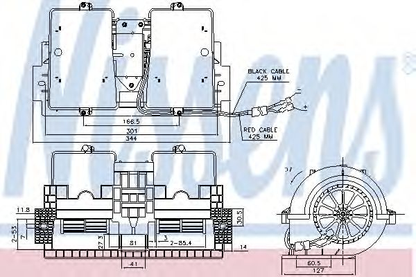 Вентилятор отопителя  RVI - RENAULT  PREMIUM (00-) 370 DCI/11  (пр-во Nissens)                       NISSENS 87140