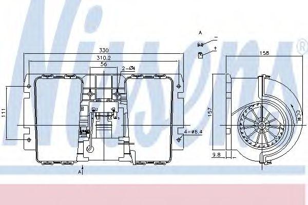 Вентилятор отопителя  RENAULT MAGNUM (90-) 390 MIDR/DXi 12 440.26 T (DXi 12) (пр-во Nissens)         NISSENS 87146