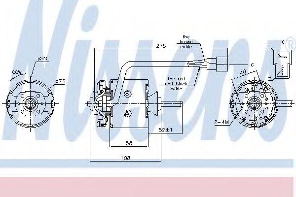 Вентилятор отопителя SCANIA 3-SERIES (87-) DSC9.10 (пр-во Nissens)                                   в интернет магазине www.partlider.com
