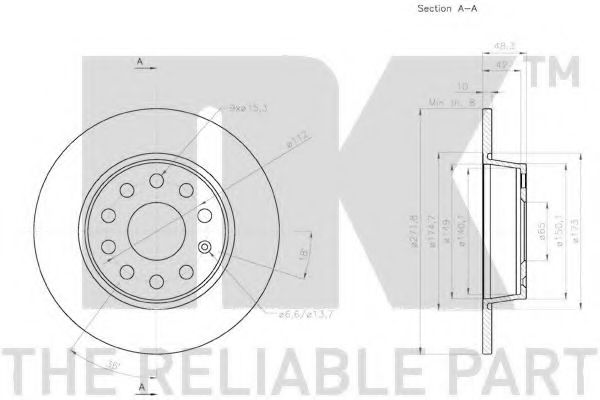 Диск гальмівний задній NK 2047137