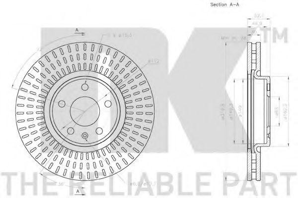 Диск гальмівний NK 2047153