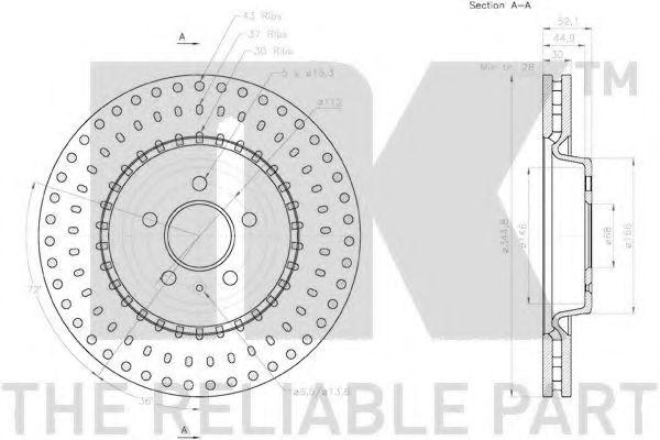 Диск гальмівний NK 2047154