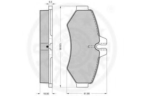 Гальмівні колодки дискові зад. DB/VW/Vario/Sprinter/VW LT  OPTIMAL 10403