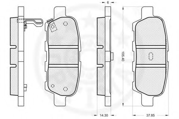Тормозные колодки OPTIMAL 87601