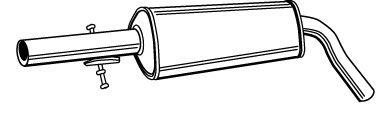 Глушитель Средний глушитель выхлопных газов WALKER арт. 21575