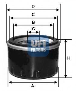 Oil filter ufi 2343900