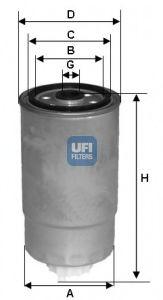 Топливный фильтр  арт. 24H2O04