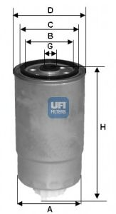 Топливный фильтр UFI 24H2O05