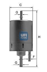 Фільтр палива UFI 3183000