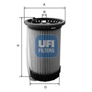 Фільтр палива Audi/VW/Skoda 1.6TDI-2.0TDI 2012- /с трубкой/ UFI 2606500
