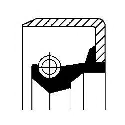 Прокладка маслонасоса Уплотнительное кольцо вала, приводной вал (масляный насос) CORTECO арт. 12016636B