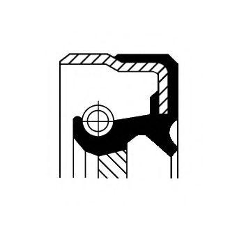 Сальник хвостовика КПП МТ75 (40x58x8.8/14.8)  арт. 01035029B
