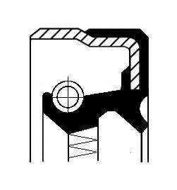 Сальник КПП, ДИФФЕРЕНЦИАЛА VAG B1BASLDRW 60X74X8 ACM (пр-во Corteco)                                  арт. 01029144B