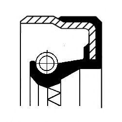 Уплотняющее кольцо, дифференциал  арт. 01020317B