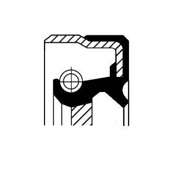 Уплотняющее кольцо, ступенчатая коробка передач, Уплотняющее кольцо, дифференциал, Уплотнительное кольцо вала, приводной вал (масляный насос)  арт. 01033854B