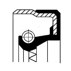 Сальник гумометалевий  арт. 01025620B