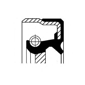 Сальник гумометалевий  арт. 01027755B