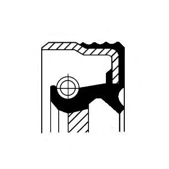 Насос гидроусилителя руля Уплотнительное кольцо вала, насос гидроусилителя CORTECO арт. 01020304B