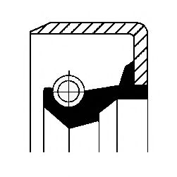Сальник гумометалевий  арт. 12001623B
