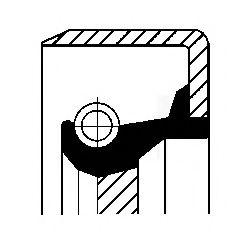 Сальник коленвала передний LADA 01-07 Corteco  арт. 12011455B