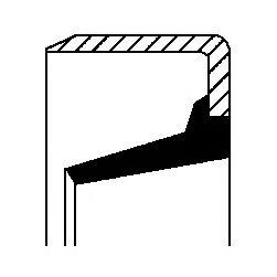 Уплотняющее кольцо, ступица колеса  арт. 12017123B